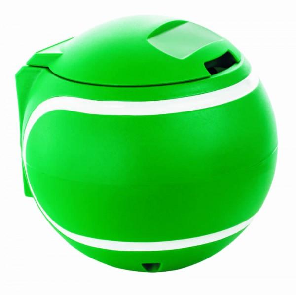 Abfallbehälter Tennisball grün