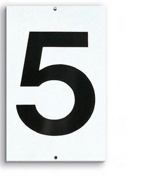 Platznummern 1-stellig