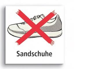 Sandschuh-Verbotsschild
