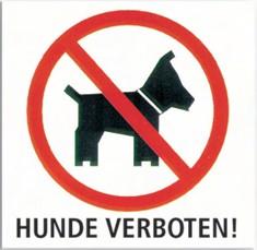 Hunde-Verbotsschild
