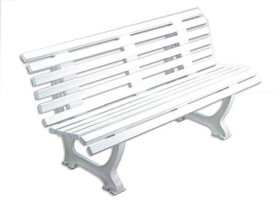 Sitzbank Ergonomic 150 cm weiß
